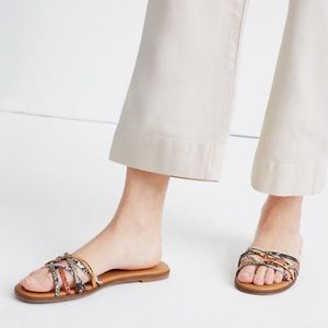 New Madewell Traci Criss across Snakeskin Sandals